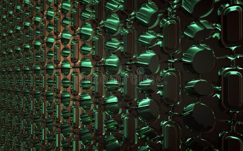 Зеленые стеклянные кирпичи стоковые фотографии rf