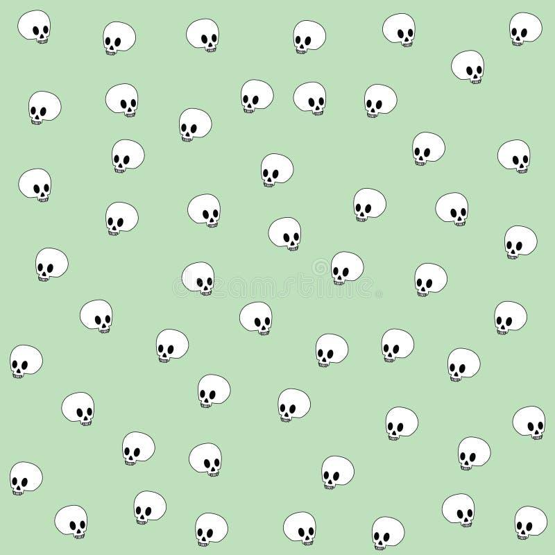 зеленые черепа бесплатная иллюстрация