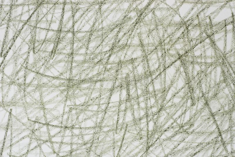 Зеленые doodles crayon на бумажной текстуре предпосылки бесплатная иллюстрация