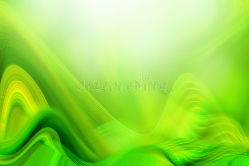 зеленые vawes иллюстрация штока