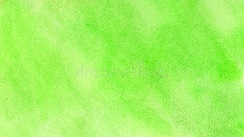 Зеленый абстрактный водяной цвет фона текстур и веб-баннеров дизайн Весенняя летняя концепция фона стоковая фотография rf