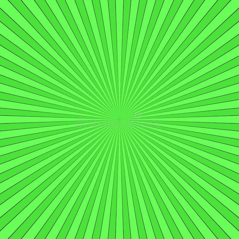 Зеленый абстрактный луч разрывал предпосылку - дизайн векторной графики от striped лучей иллюстрация штока