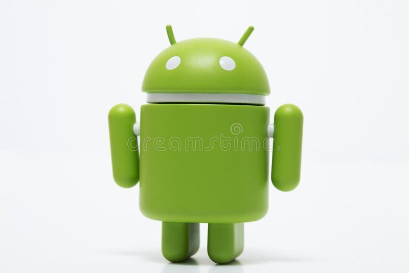 Зеленый андроид робота стоковое фото rf