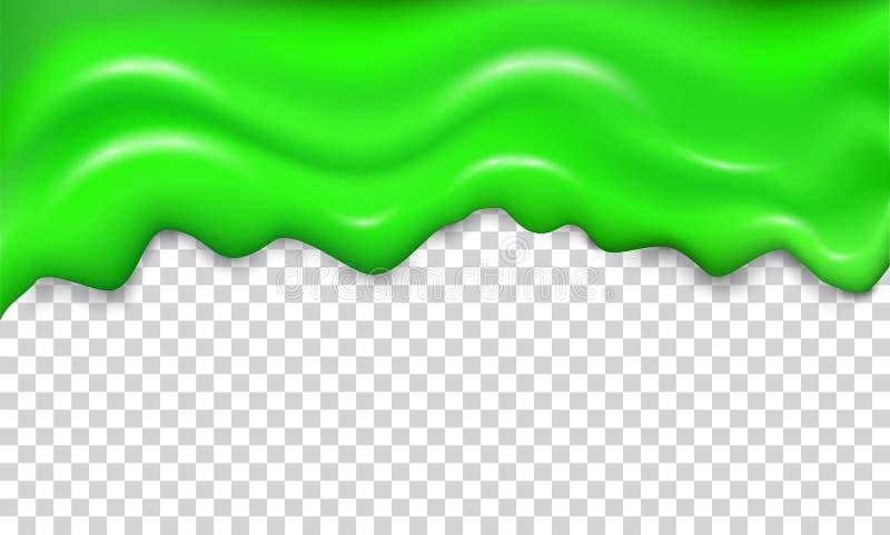 Зеленый безшовный шлам капания иллюстрация штока