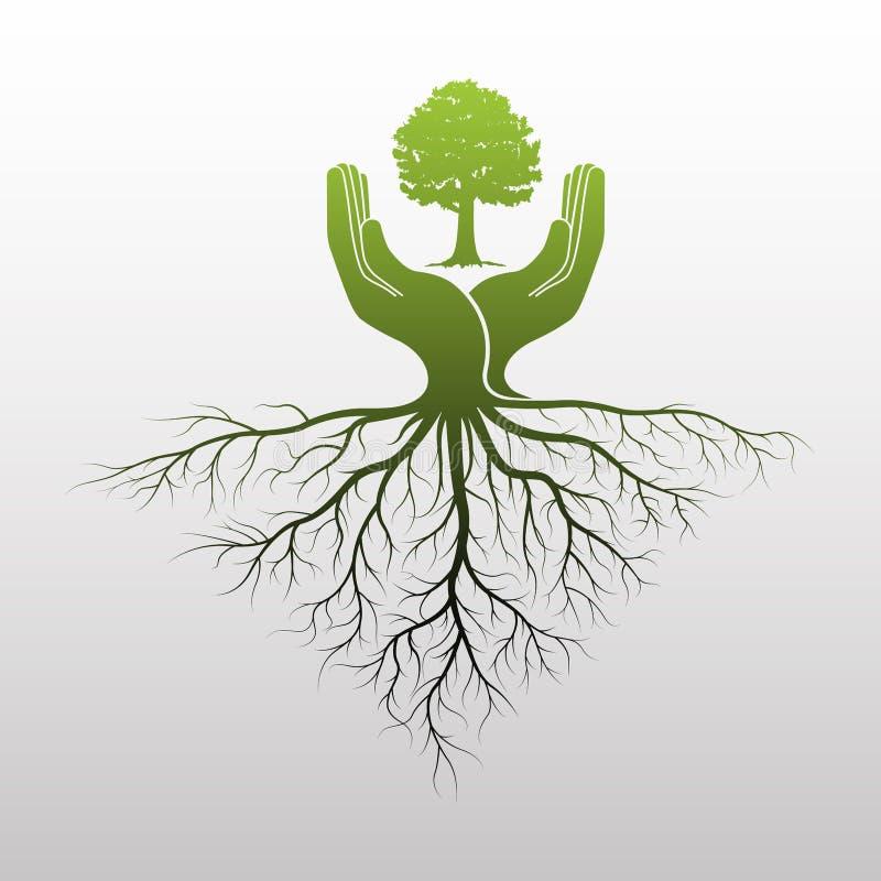зеленый вал логоса иллюстрация вектора
