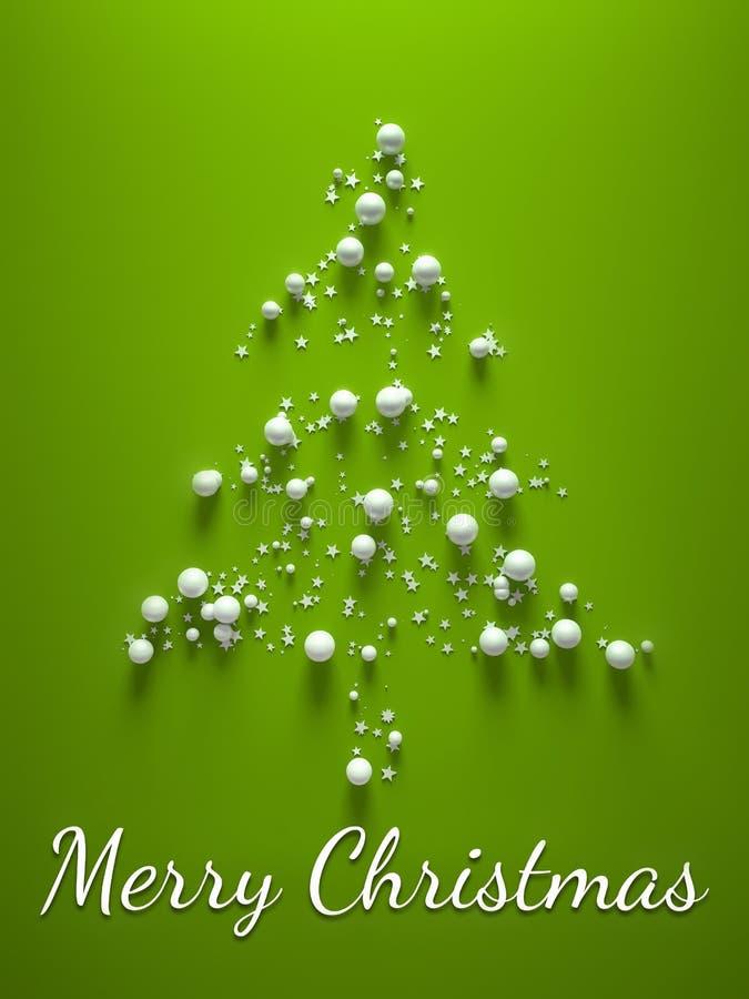 Зеленый вал с Рождеством Христовым иллюстрация штока