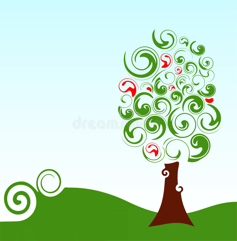 Download зеленый вал иллюстрация вектора. иллюстрации насчитывающей цвет - 6860129