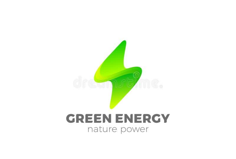 Зеленый вектор логотипа вспышки энергии Сила Thunderbolt бесплатная иллюстрация