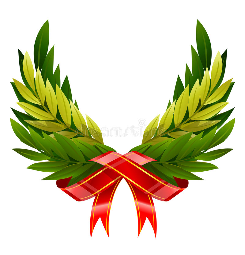зеленый венок крылов вектора листьев иллюстрация штока