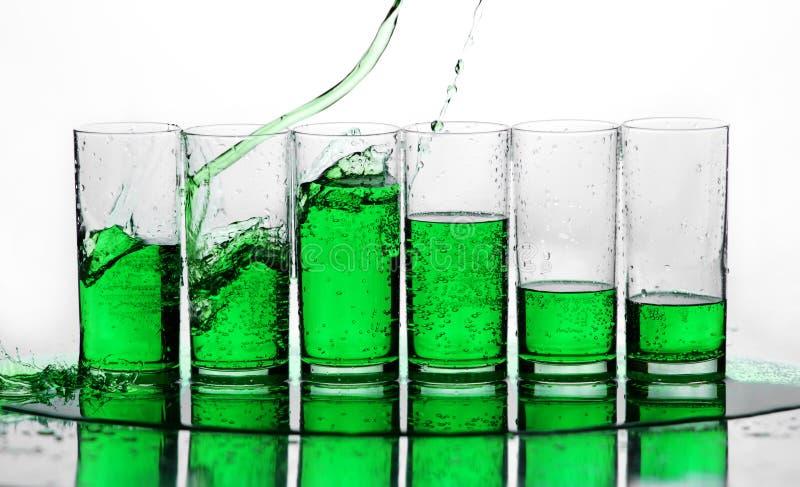 зеленый выплеск стоковая фотография