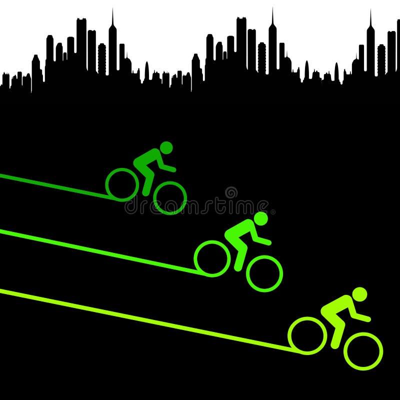 Зеленый город иллюстрация штока