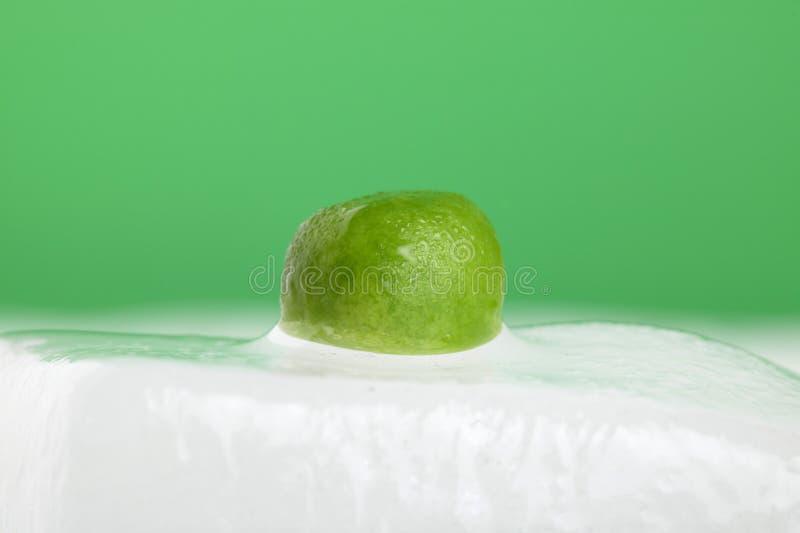 зеленый горох льда стоковое изображение rf