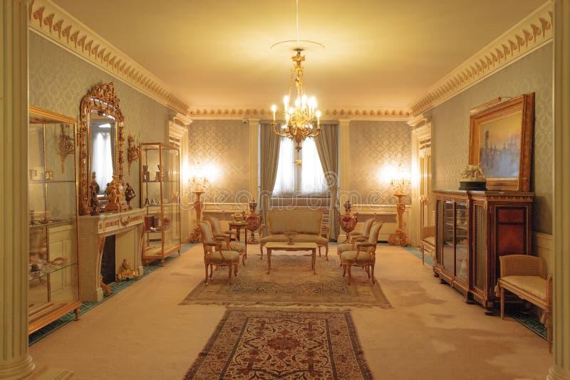 Зеленый дворец, часть комплекса дворца последнего Shah Персии, Mohammad Reza Pahlavi стоковая фотография rf