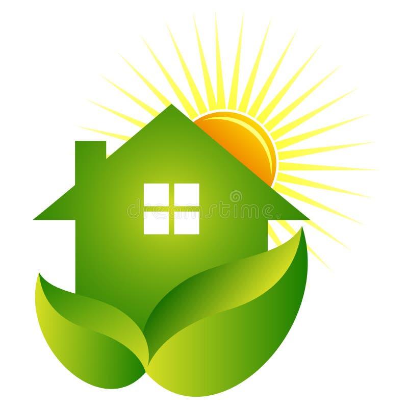 зеленый дом иллюстрация штока