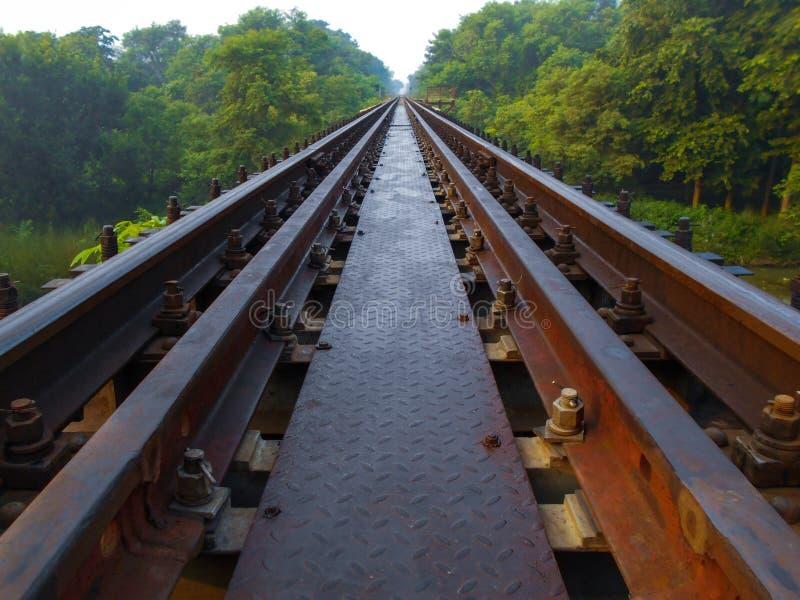 Зеленый железнодорожный мост стоковое фото rf