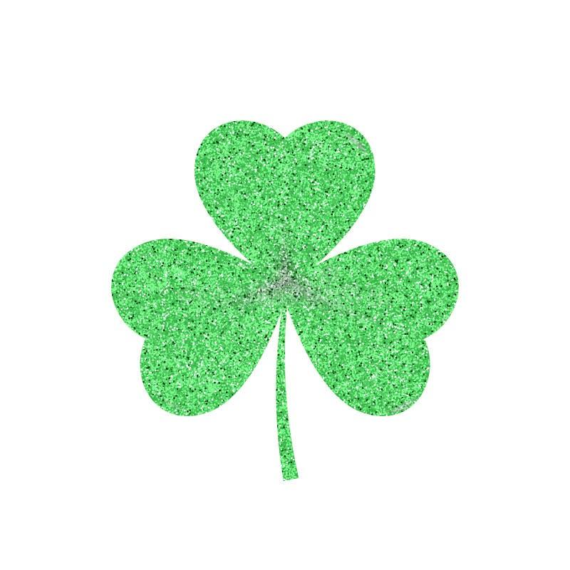Зеленый значок разрешения Shamrock - символ дня Patricks Святого