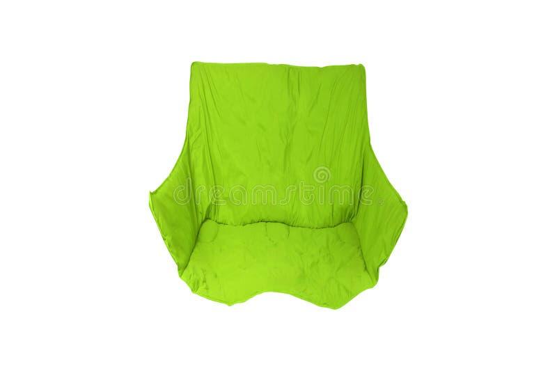 Зеленый изолированный стул складчатости стоковая фотография
