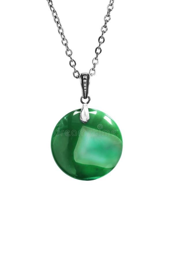 Зеленый изолированный шкентель стоковая фотография rf