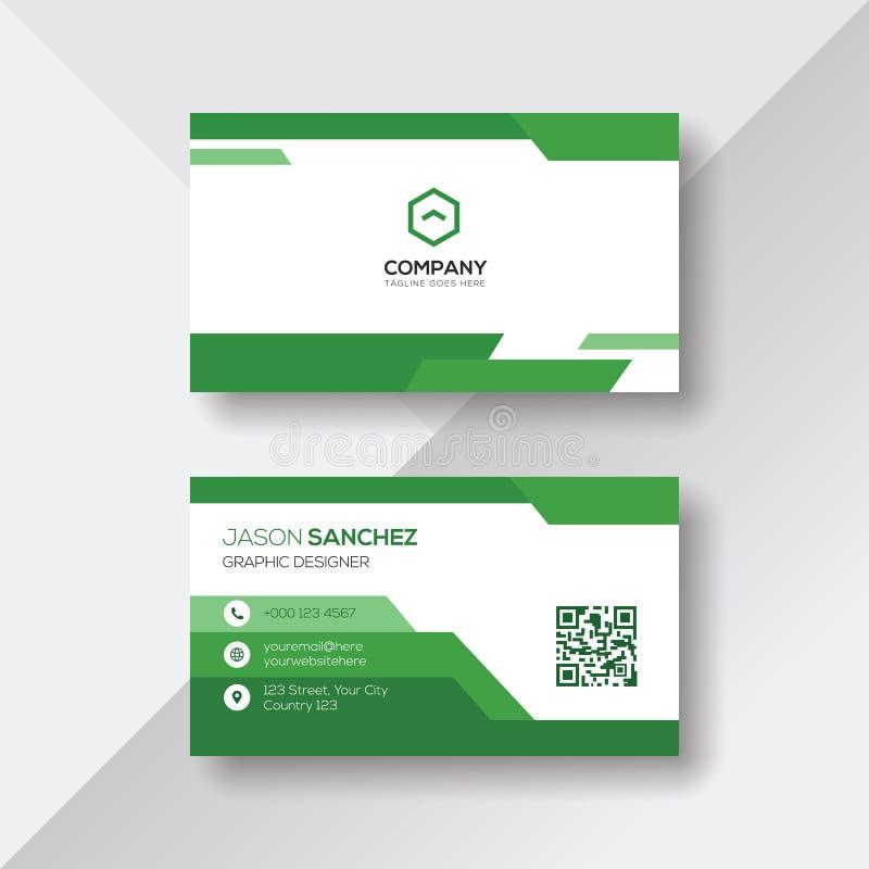 Зеленый и белый шаблон дизайна визитной карточки бесплатная иллюстрация