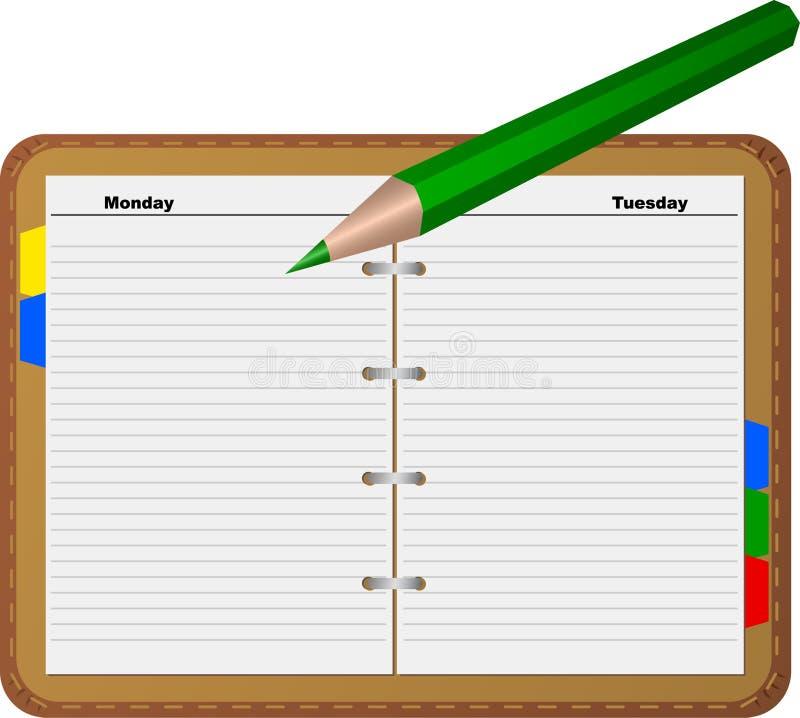 зеленый карандаш блокнота бесплатная иллюстрация