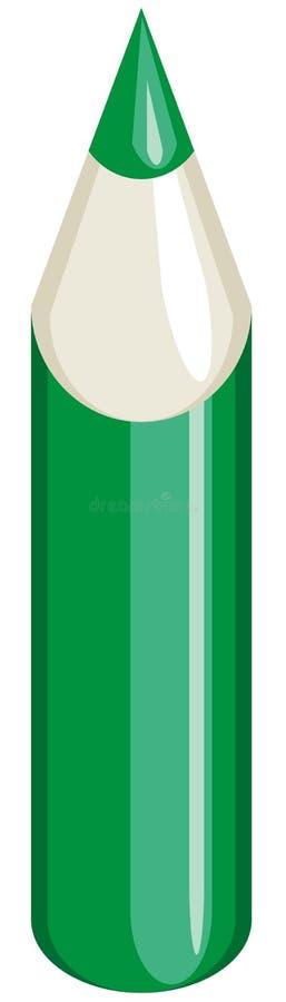 зеленый карандаш иллюстрация штока