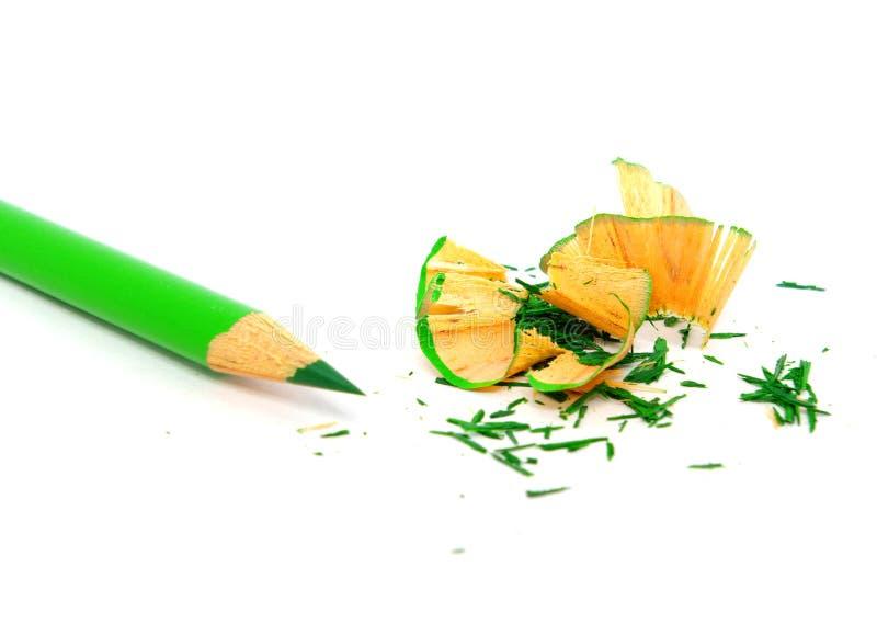 зеленый карандаш стоковая фотография