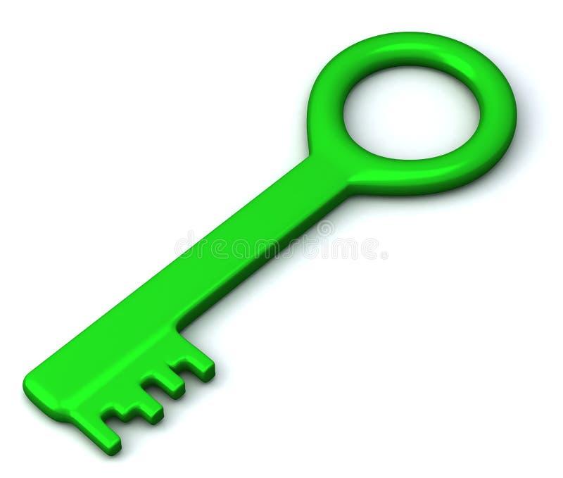 зеленый ключ иконы 3d иллюстрация штока