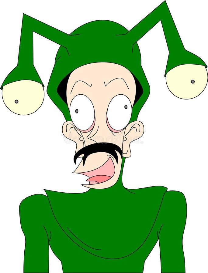 зеленый костюм иллюстрация штока