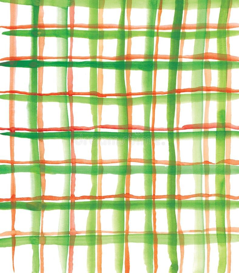 зеленый красный цвет шотландки картины иллюстрация вектора