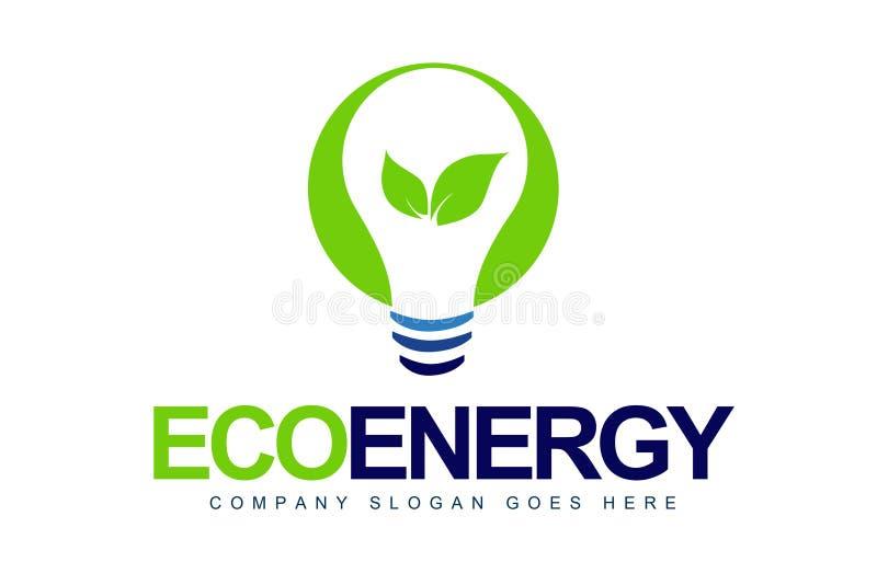 Зеленый логос энергии иллюстрация вектора