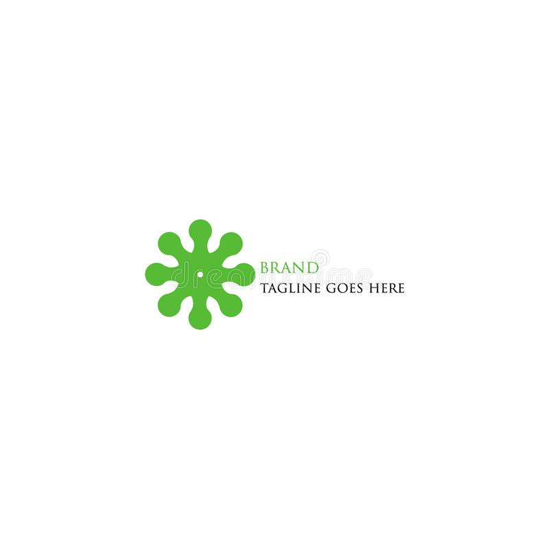 Зеленый логотип технологии прост и привлекателен бесплатная иллюстрация