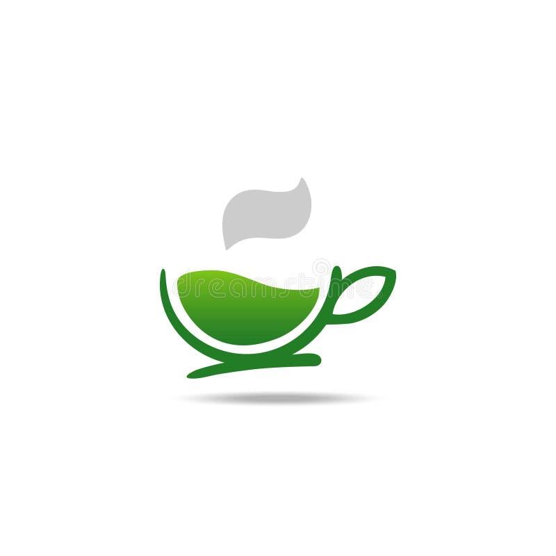 Зеленый логотип травяного чая бесплатная иллюстрация
