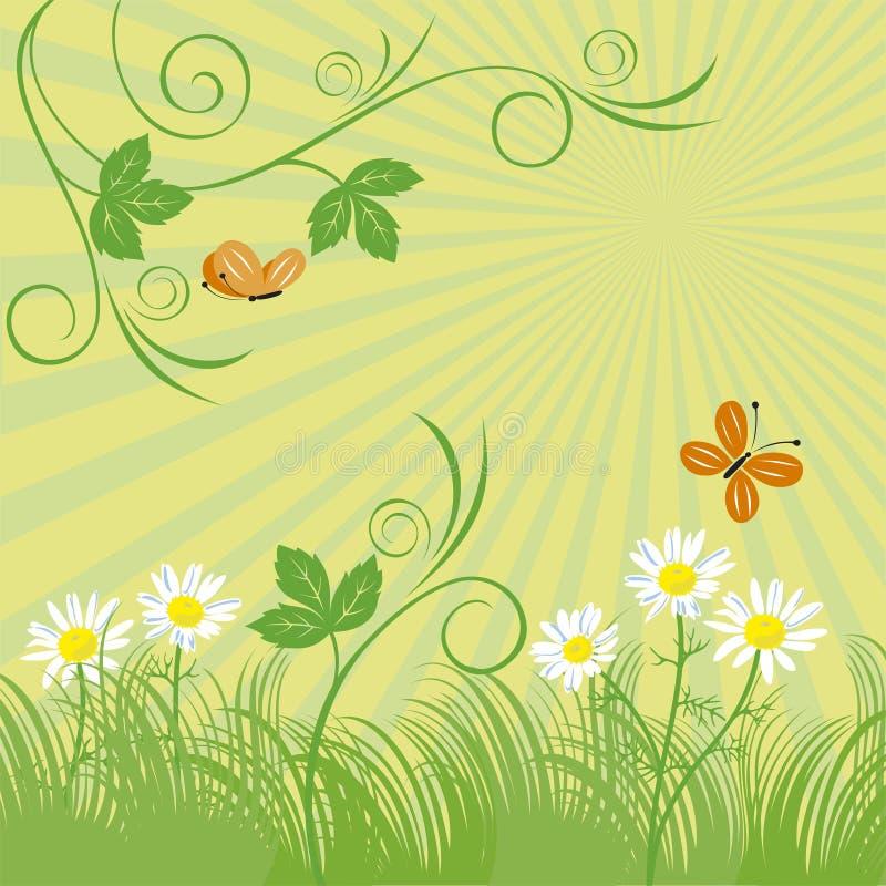 зеленый лужок иллюстрация штока