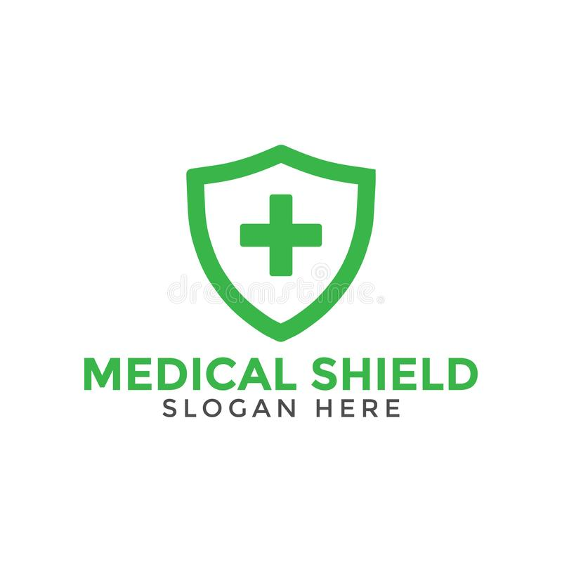 Зеленый медицинский перекрестный шаблон дизайна значка логотипа экрана иллюстрация вектора