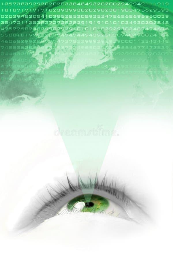 зеленый мир зрения иллюстрация вектора
