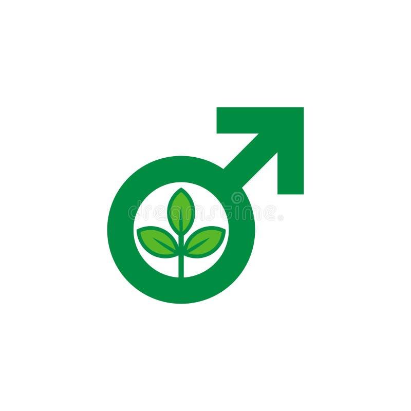 Зеленый мужской дизайн значка логотипа человека бесплатная иллюстрация