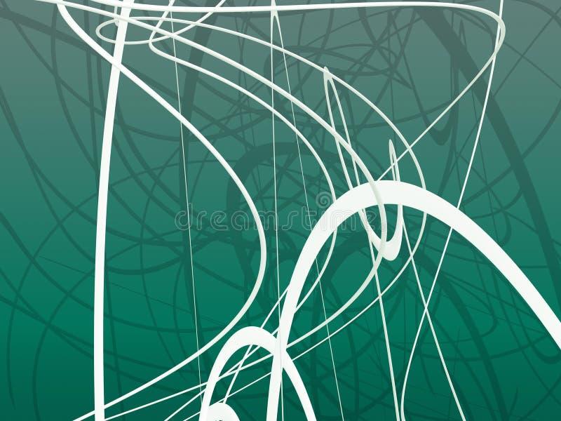 зеленый органический орнамент бесплатная иллюстрация