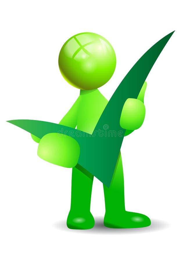 Зеленый положительный символ иллюстрация штока