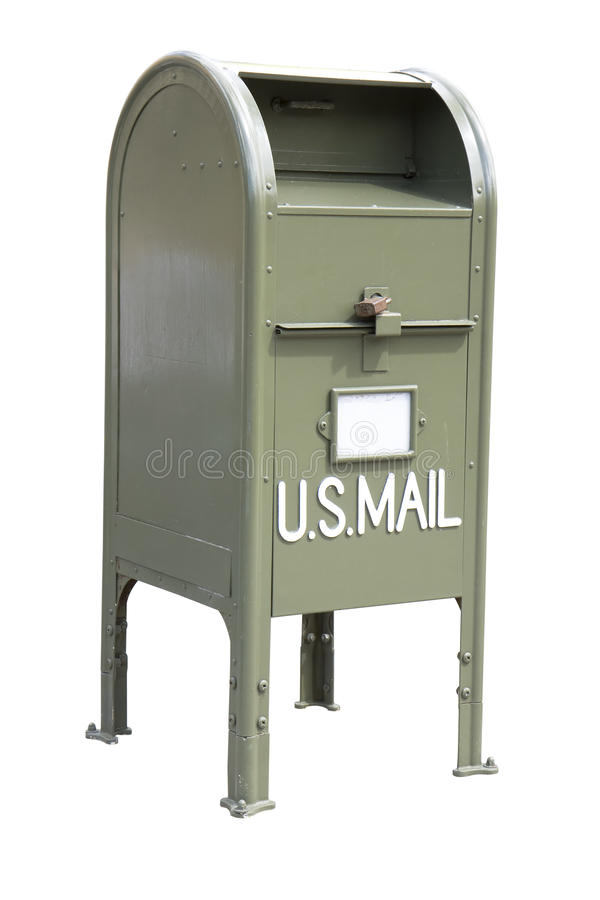 зеленый почтовый ящик стоковое фото rf