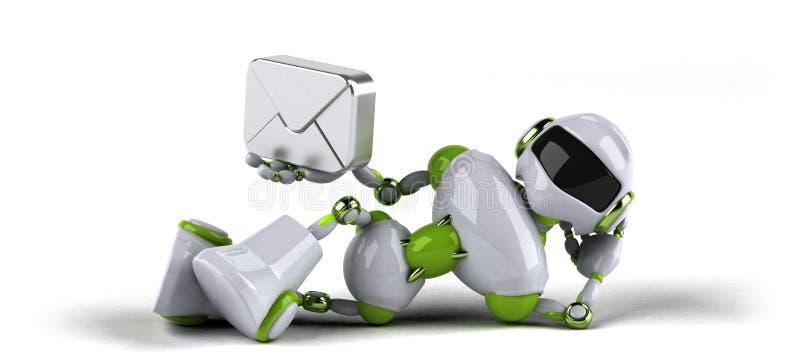 Зеленый робот - иллюстрация 3D бесплатная иллюстрация