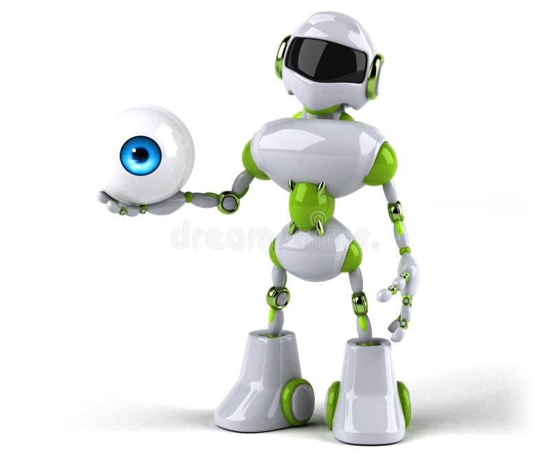 Зеленый робот - иллюстрация 3D иллюстрация вектора