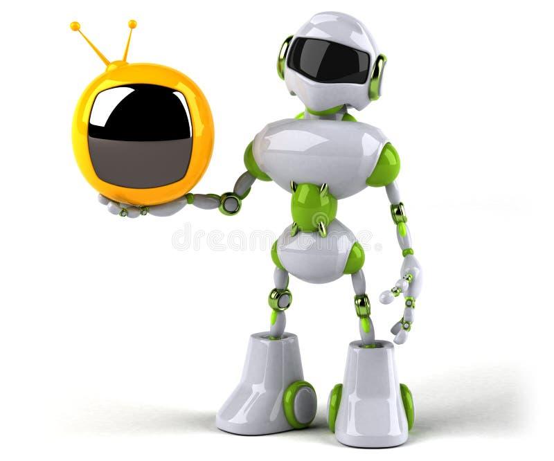Зеленый робот - иллюстрация 3D иллюстрация штока