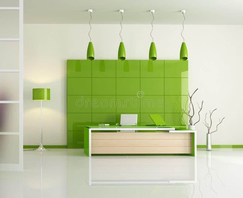 зеленый самомоднейший офис иллюстрация вектора