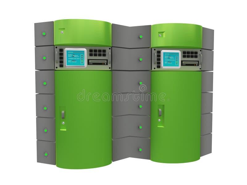 зеленый сервер 3d иллюстрация вектора