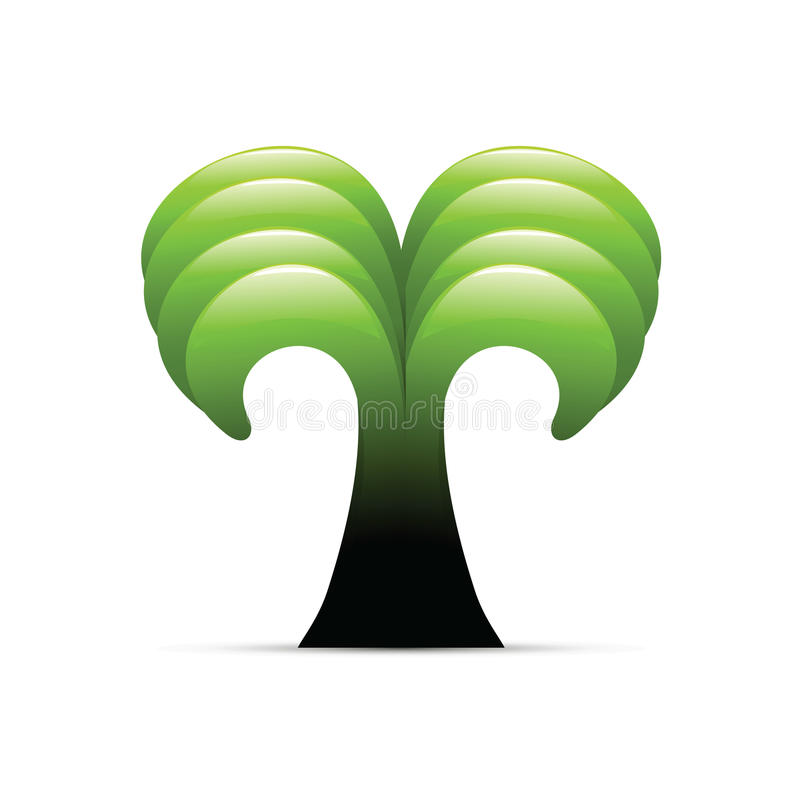 зеленый символ ладони иллюстрация вектора