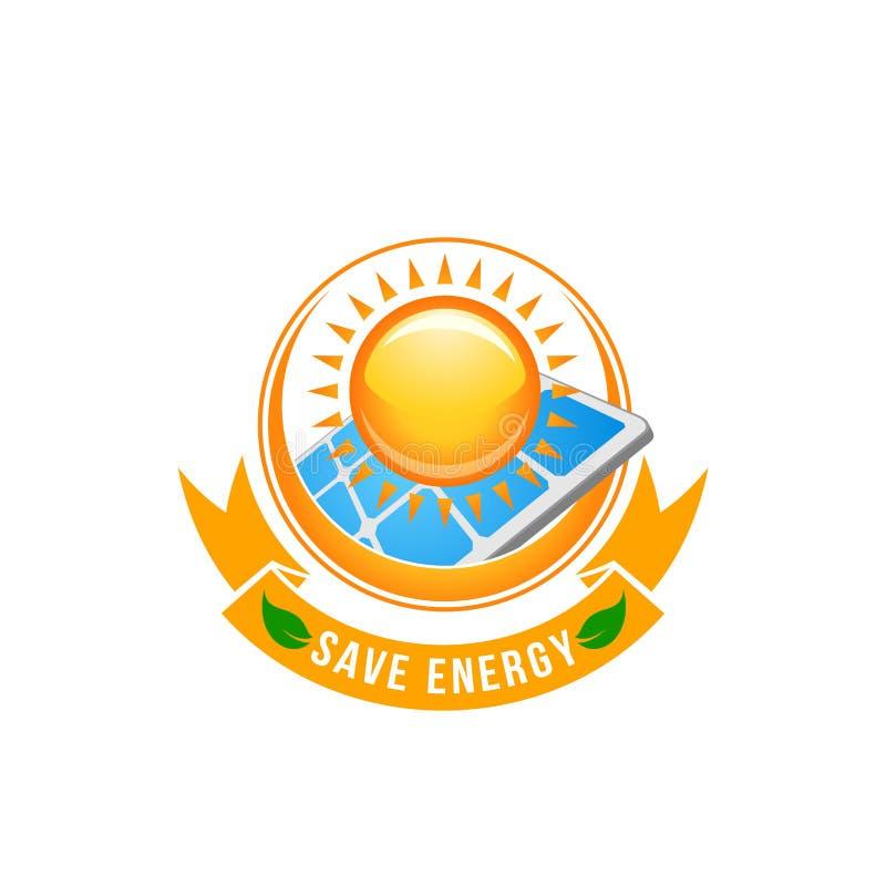 Зеленый солнечный зеленый значок вектора солнца батареи энергии бесплатная иллюстрация