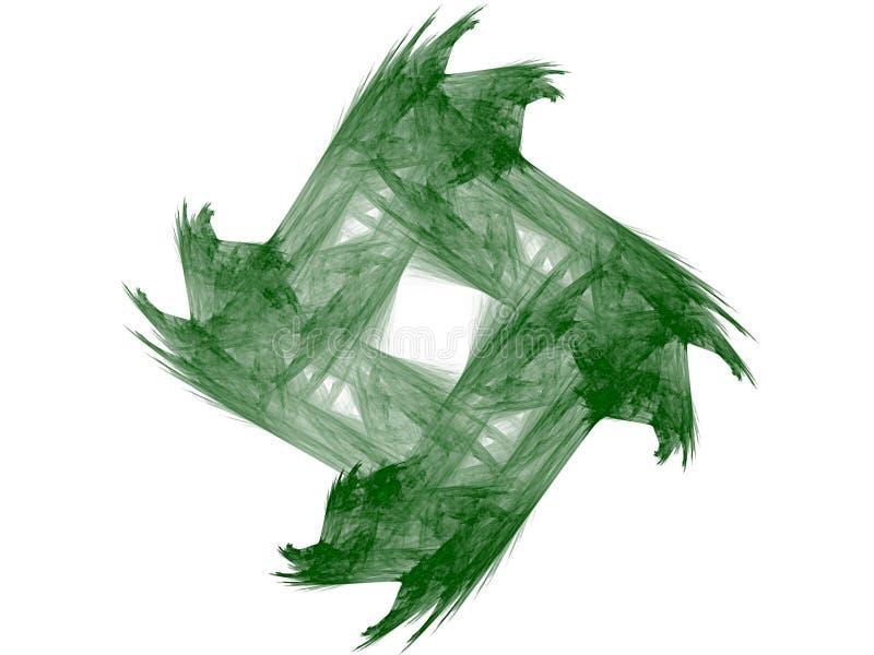 Зеленый фрактал и белый фон иллюстрация вектора
