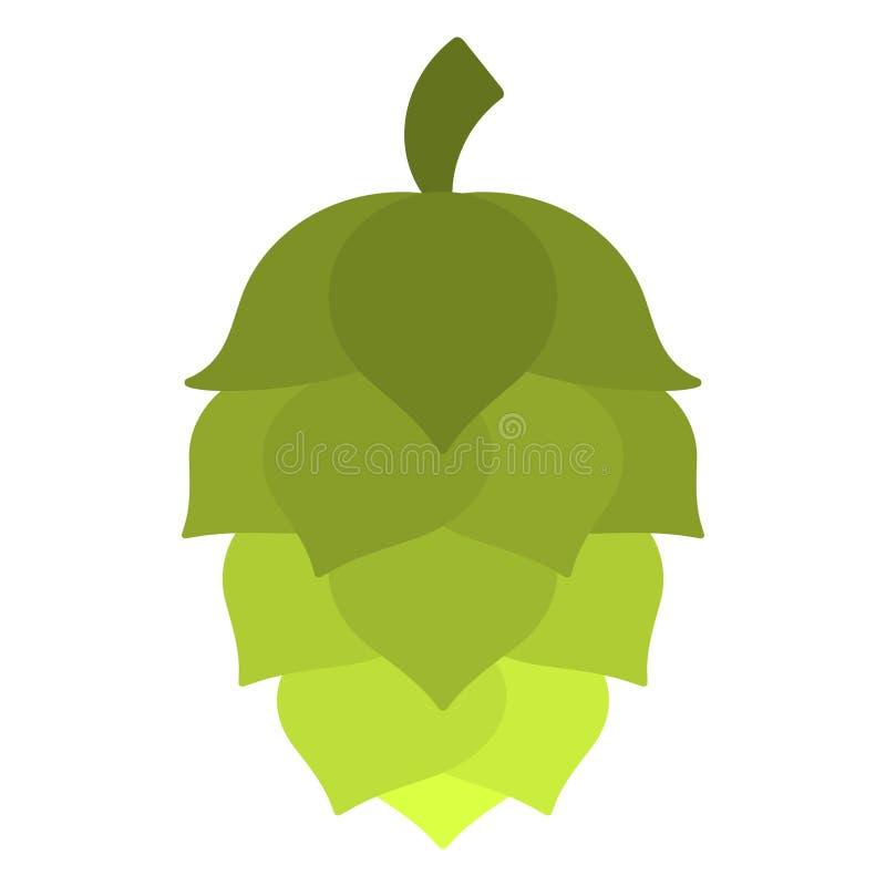 Зеленый хмель иллюстрация вектора