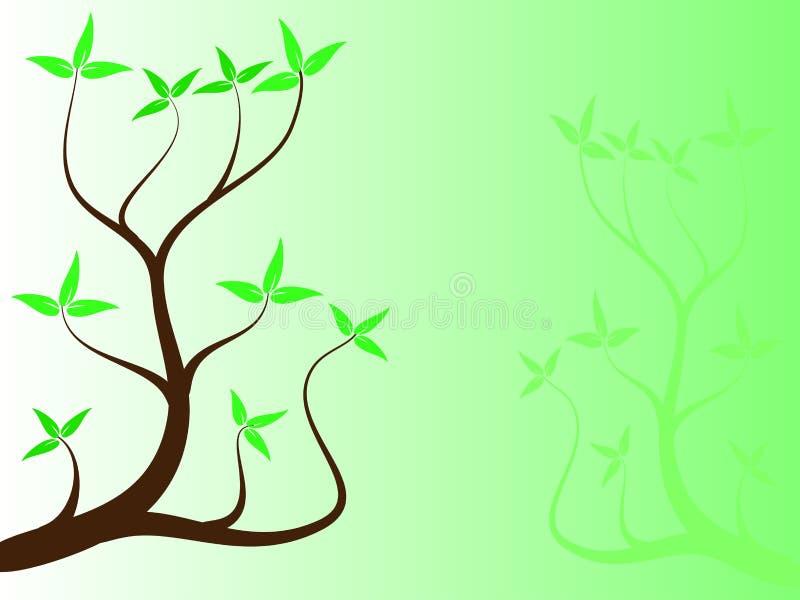 зеленый цвет абстрактного backround флористический иллюстрация вектора