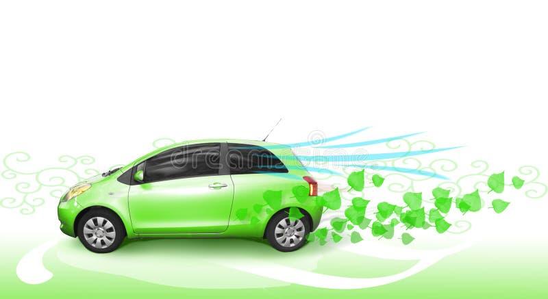 зеленый цвет автомобиля стоковое изображение rf